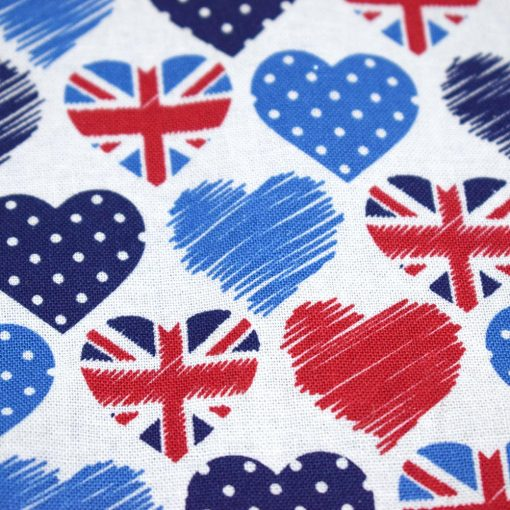 Bandana British Hearts Pattern