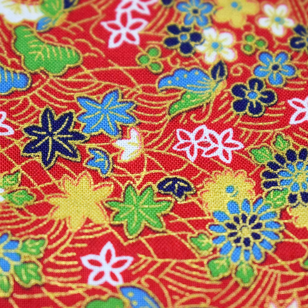 Bandana Nature (Red & Gold) Pattern