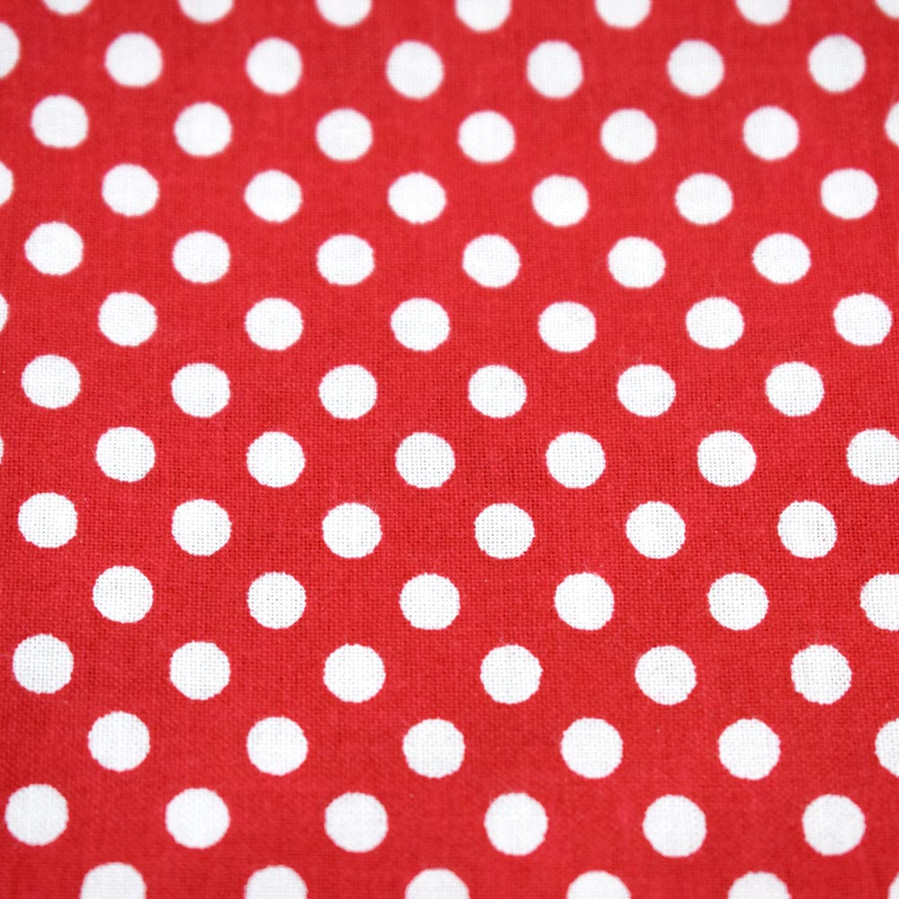 Bandana Polka Dot (Red & White) Pattern