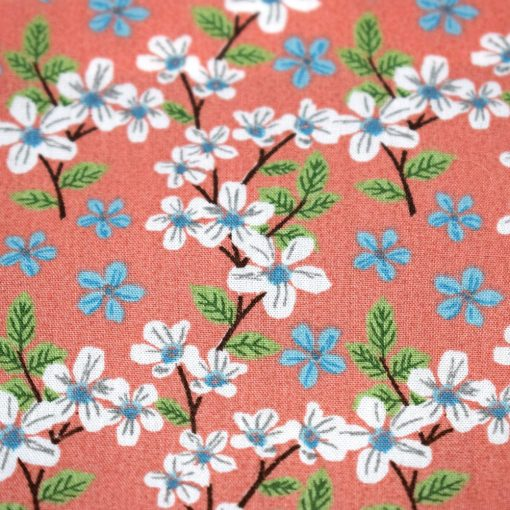 Bandana Flowers (White & Blue) Pattern